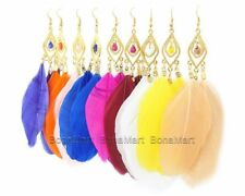 Feather Chandelier Fashion Earrings