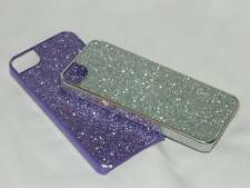 Iphone 5 Cases , TWO Sparkling Pop n Go Hard Plastic , Purple & Silver