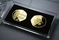 Pair of 'I SURVIVED 2020' Commemoratives in 50p Coin Display/Presentation Case