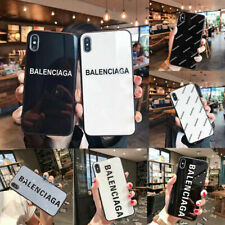 Luxury Fashion Art Design Tempered Glass Phone Case for iPhone 12 11 XR 8 7 Plus