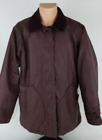 Vintage Woolrich Purple Waxed Canvas Jacket Coat Womens Medium Made in USA
