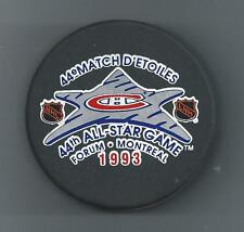 1993  44th NHL All-Star Game   Forum Montreal   Souvenir Hockey Puck