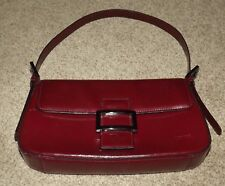 Vintage Leather Ox Blood Louvier Handbag Inside Zip 27cm X 16cm 10 5 6 Inches
