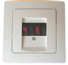 UP Stereo Lautsprecheranschluß-Dose mit Kopp Objekt HK 05 Abd. weiß