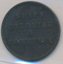 CANADA PEI TOKEN SHIPS COLONIES & COMMERCE BRETON 997 LEES 32 - ICCS VF-30