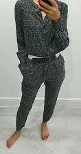 NEXT beautiful print long sleeve jumpsuit Size UK 8R