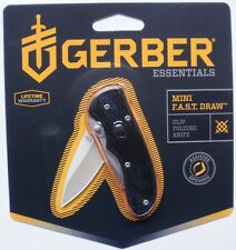 "Gerber Mini Fast Draw Knife Fine Edge 1.9oz 5"" 41526 NR"