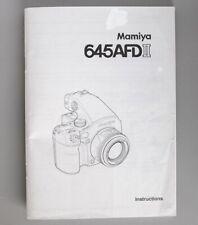 Mamiya 645AFDII Instruction Manual Original