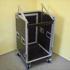 ROADINGER 14/10HE Winkelrack Kombicase L-Rack Spezial-Kombi-Case Profi m. Rollen