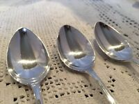 A Set Of 6 Fine Vintage Silver Plated Teaspoons Excellent Condition