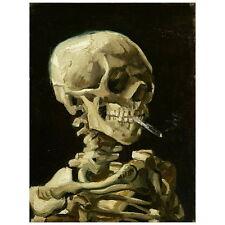 Van Gogh, Head of a Skeleton w/ a Burning Cigarette Deco FRIDGE MAGNET, 1886