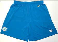 MIAMI DOLPHINS NIKE DRI-FIT TEAM ISSUED NFL BLUE SHORTS W/Front & Back Pockets