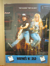 Vintage Movie poster Wayne's World VIP  concert 1992 1752