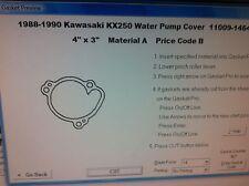 Kawasaki KX250  Water pump cover Gasket  1988 1989 1990