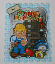 PK 2 DIY DAD HAPPY BIRTHDAY EMBELLISHMENT TOPPER  FOR CARDS OR CRAFTS ***