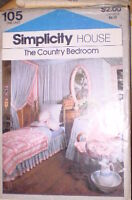 105 Vintage Simplicity Sewing Pattern Home Decoration Country Bedroom Shams OOP