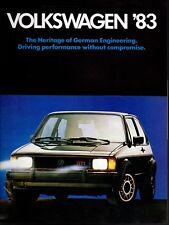 1983 VW Volkswagen Quantum Pickup Jetta Scirocco Vanagon Rabbit Sales Brochure