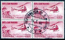 SAN MARINO 1961 696 gestempelt im VIERERBLOCK (D4582