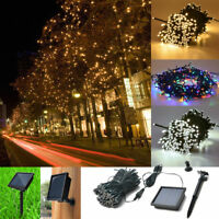 100/200 LED String Solar Light Garden Outdoor Xmas Party Fairy Tree Decor Lamp a