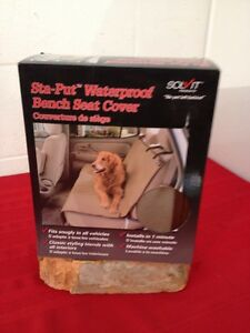 Solvit Sta-Put Bench Pet Seat Cover - Standard - 56L x 47W in. BROWN