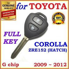 Toyota Corolla Remote key Two Buttons G CHIP - 89070-12501