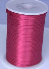 rose 2MM Rattail Satin Cord Macrame Beading Nylon kumihimo String DIY