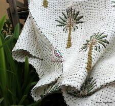 Indian handmade Block print 100% Cotton Fabric baby Quilt Blanket Throw handmade