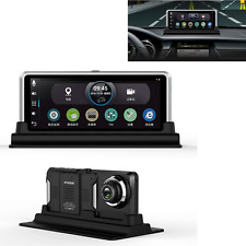 "Dual Lens 7"" HD 1080P Car DVR Rearview Camera Dash Cam Recorder GPS Navigation"