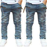 Kids Boys Toddler Stars Casual Harem Pants Stretch Denim Jeans Trousers 3-11Y KW