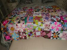 "Hand Made !00% Cotton Patchwork Quilt -  50"" x 58"" - Unused"