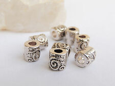 Lot 10 Perles intercalairesSpirale 6 mm - perles en argent tibétain