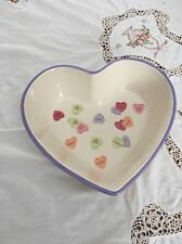 Valentines Conversation Candy Hearts Candy Dish  Too Sweet!