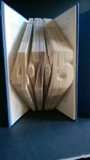 Custom Folded Book Art 6 Numbers Date Unique 1st anniversary Book lover gift her