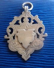 Attractive Sterling Silver Fob Medal h/m 1910 Chester not engraved J & R Griffin