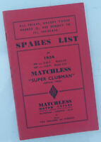 1956 MATCHLESS MOTORCYCLE FACTORY MANUAL PARTS BOOK G9 G11 SUPER CLUBMAN AJS