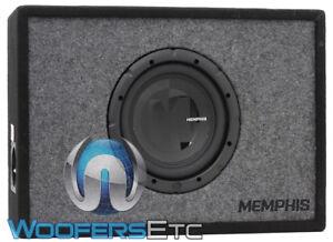 "MEMPHIS PRXE8S 8"" 400W 4-OHM ENCLOSED SUBWOOFER 100% MDF PORTED BASS BOX SPEAKER"