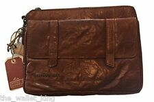 Spikes & Sparrow iPad 2/Tablet Buffalo Leather Carrying Case, strap - Brandy
