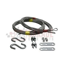 "Garage Door Cable Replacement Kit. Two 3/32"" x 13 Long and Two 1/8"" x 14 Cables,"