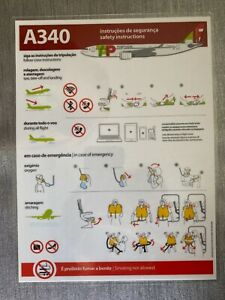 TAP PORTUGAL A340 SAFETY CARD