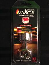 Dodge Viper Sneaky Pete Red & Silver Metal Piston Keychain