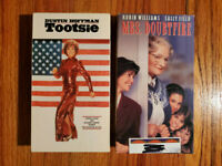 (Lot2) Tootsie 1982 Mrs Doubtfire 1993 VHS ORIGINAL HTF OOP Rare Comedy Romance