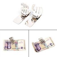 Men Stainless Steel Slim Pocket Money Clip Wallet Credit ID Card Cash Holder3C