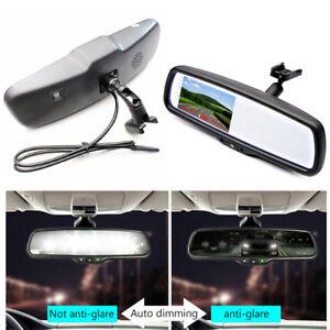 "4.3"" 800*480 TFT LCD Auto Dimming Rear View Mirror Monitor Bracket w/ Bracket"