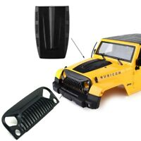 Air Inlet Grille Front Face & Engine Hood for 1/10 RC Rock Crawler Axial SCX10