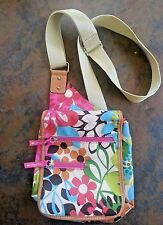 Women's Lily Bloom Crossbody Floral Purse Bag Blue Floral Lily Bloom Bag
