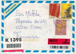 Argentinien Mi 2599 MiF Brief mit Einschreiben nach Finnland