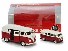 2er Set Welly Modellautos 1:37 und 1:60 Volkswagen T1 Bus 1963