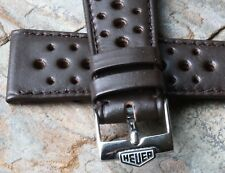 Tag Heuer Autavia 2017 has Heuer buckle Nos 1960/70 vintage 21mm rally band fits