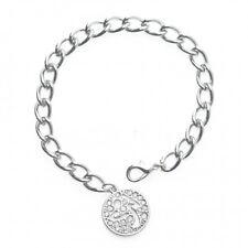 Zumba Bracelet with Charm Rhinestones Silver