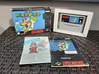 Super Mario World Super Nintendo (SNES) + OVP + Anleitung / Manual - Top Zustand